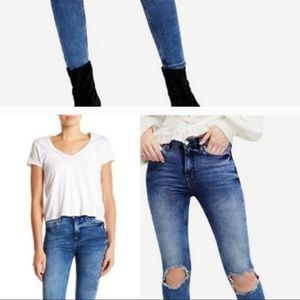 Free people jeans with busted knee